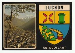 LUCHON - Carte Postale Adhésive - Autocollant - édit. Cap -théojac - Luchon