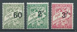 ALGERIE 1926/28 . Taxes N°s 12 , 13 Et 14 . Neufs * (MH) . - Impuestos