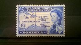 FRANCOBOLLI STAMPS DOMINICA 1958 MNH** NUOVI SERIE  BRITISH CARIBBEAN FEDERATION - Dominica (1978-...)