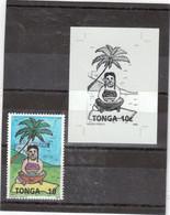 """M19 - TONGA - 946 ** MNH De 1993 Surchargé SPECIMEN Et épreuve De Contrôle En Noir - PREPARATION Du """" KAVA """" - Tonga (1970-...)"""