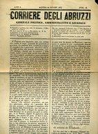 253 CORRIERE DEGLI ABRUZZI 1864 BRIGANTAGGIO TORNIMPARTE  PESCOCOSTANZO - Ante 1900