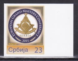 Serbia 2015 European Grand Masters Conference Freemasons Masons Personalized Personal Stamp Cromalin Paper - Franc-Maçonnerie