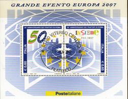 PIA  -  ITALIE  -  2007 : 50° Della Firma Dei Trattati Di Roma  -     (SAS  Bf 50 ) - Hojas Bloque