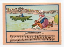 - CPSM MUSIQUE (partition + Paroles) - Sur Les Bords De La Loire - N° 1479 H - - Musique Et Musiciens