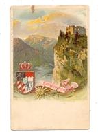 8962 PFRONTEN, Ruine Falkenstein, Wappen Und Edelweiß Geprägt, Ca. 1905, Kl. Fleck Und Kl. Nadelloch - Pfronten