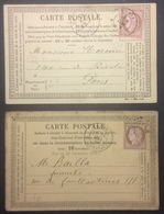 CP5 2 Cartes Précurseur N°9 Et N° 24 T.n°58 E15 + 54 Taitbout - Postal Stamped Stationery