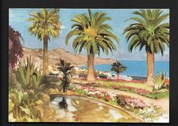 San Remo Sanremo - Giardini Jardins Gardens CPSM Liguria Imperia  Italie Italia Illustrateur Aldo Raimondi - San Remo