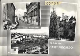 Umbria-terni-castelviscardo Vedute Vedutine Via Principe Spada Castello Panorama Da Ovest Saluti Da Castelviscardo - Italy