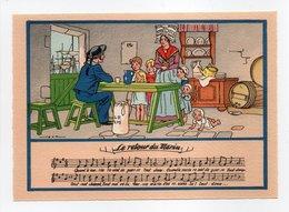 - CPSM MUSIQUE (partition + Paroles) - Le Retour Du Marin - N° 1479 M - - Musique Et Musiciens