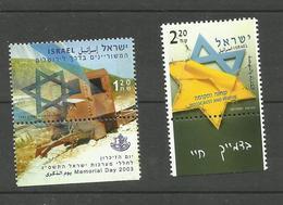 Israël N°1654, 1656 Neufs** Cote 3.10 Euros - Israel