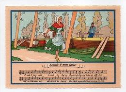 - CPSM MUSIQUE (partition + Paroles) - Ecoute, ô Mon Coeur - N° 1479 B - - Musique Et Musiciens