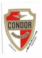 Autocollant Publicitaire Condor Courfaivre (pour Cadre De Vélo?) - Transport