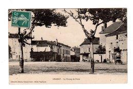 CPA 46 - Gramat - Le Champ De Foire , Hôtel Du Lion D'or - Gramat