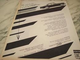 ANCIENNE PUBLICITE VOITURE  V 8 SIMCA VEDETTE   1955 - Publicités