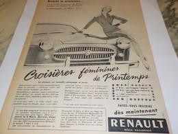 ANCIENNE PUBLICITE BIENTOT LE PRINTEMPS VOITURE RENAULT   FREGATE 1955 - Voitures