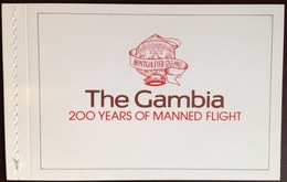 Gambia 1983 Manned Flight Aircraft Aviation Booklet MNH - Gambie (1965-...)