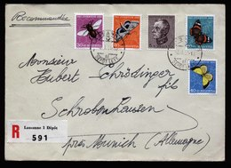 A5818) Schweiz R-Brief Pro Juventute 1950 Lausanne 03.01.51 - Pro Juventute