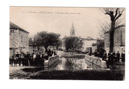 CPA 46 - Sauzet ( Lot ) - L'arrivée ( Vue Prise Du Sud ) - France