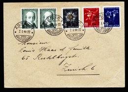 A5819) Schweiz Brief Pro Juventute 1943 Zürich 02.01.44 - Pro Juventute