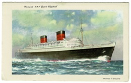 Ref 1265 - Unused Cunard R.M.S. Queen Mary Letter Card - Shipping Maritime Theme - Paquebote