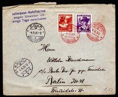 A5820) Schweiz Brief Winteralpenpost Julierpass 04.02.35 - Svizzera
