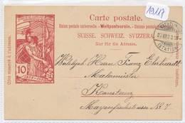 Philatélie - 19117 - Suisse - Entier Postal  Circulé Le 20.07.1900 - Franco De Frais - Interi Postali