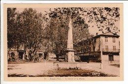 Cpa 83  Aups Le Cours Et La Mairie - Aups