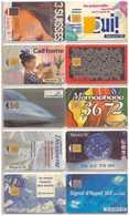 10 Télécartes France. 1993 - Frankrijk