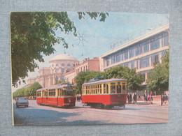 Ukraine. Vinnytsia Lenin Street With Tram Old USSR PC - Tranvía