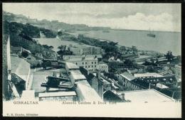 Ref 1265 - Early Cumbo Postcard - Alameda Gardens & Dock Yard - Gibraltar - Gibraltar