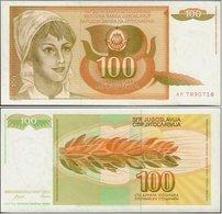 Yugoslavia - 100 Dinar 1990 UNC - Jugoslawien