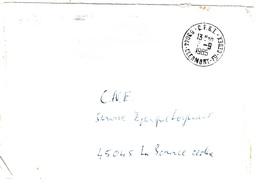 CLERMONT FERRAND Lettre Pour CNE Orléans En Franchise Ob Meca Au Dos Par Erreur Reprise Ob Manuekke Recto CFRT  Cedex - Postmark Collection (Covers)