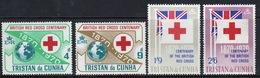 Tristan Da Cunha 1970 Complete Set Of Stamps Commemorating Centenary Of The British Red Cross. - Tristan Da Cunha