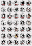 35 X Ann Rutherford Film Fan ART BADGE BUTTON PIN SET 3 (1inch/25mm Diameter) - Films