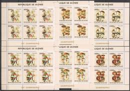 F776 2002 GUINEA FLORA NATURE MUSHROOMS LES CHAMPIGNONS !!! 6SET MNH - Funghi
