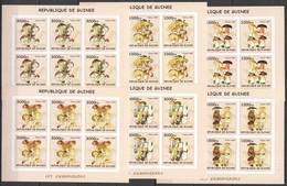 F779 IMPERFORATE 2002 GUINEA FLORA NATURE MUSHROOMS LES CHAMPIGNONS !!! 6SET MNH - Funghi