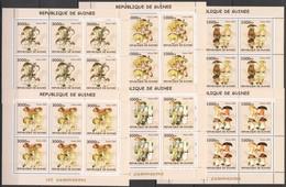 F780 2002 GUINEA FLORA NATURE MUSHROOMS LES CHAMPIGNONS !!! 6SET MNH - Funghi