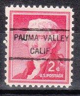 USA Precancel Vorausentwertung Preo, Locals California, Pauma Valley 825 - Vereinigte Staaten