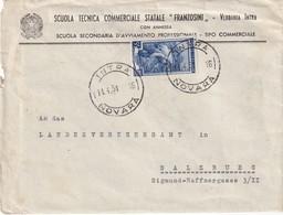 ITALIE 1951 LETTRE DE INTRA - 6. 1946-.. Repubblica