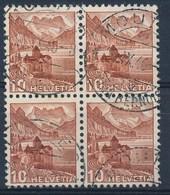 """HELVETIA - Mi Nr 363b (Viererblock) - Cachet """"MOUTIER - JURA-BERNOIS"""" - (ref. 856) - Schweiz"""