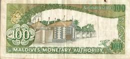 BILLET MALDIVES DE 100 RUFIYAA DE 1987 - Maldives