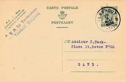 TURNHOUT,entier Postal ,publicité Firma  S A  La Turnhoutoise - Turnhout
