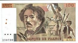 BILLET DE 100 FRANCS DELACROIX DE 1986 - 1962-1997 ''Francs''