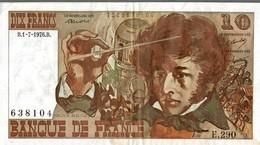 BILLET DE 10 FRANCS BERLIOZ DE 1976 - 1962-1997 ''Francs''