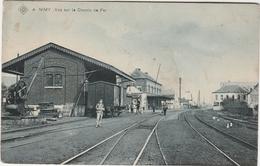 NIMY Prés Obourg, Mons Et Maisières. SBP N°:4. Vue Sur Le Chemin De Fer (Gare Du Train). Postée 1907 - België