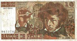 BILLET DE 10 FRANCS BERLIOZ DE 1978 - 1962-1997 ''Francs''