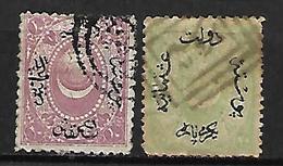 TURQUIE    -  1869.  Y&T N° 19 / 20 Oblitérés. - Used Stamps
