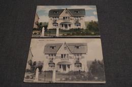 2 Cartes,Genval,maison Les Vacances,oblitération Militaire 1918,collection,RARE,ancienne Carte Postale - Rixensart