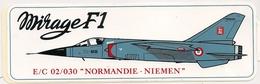 "AUTOCOLLANT  MIRAGE  FI  E/C 02/030 "" NORMANDIE-NIEMEN"" - Stickers"
