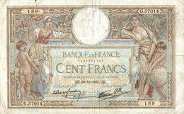 BILLET DE 100 FRANCS DE 1937 - 1871-1952 Anciens Francs Circulés Au XXème